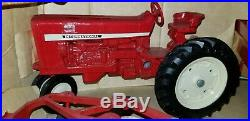 1969 International Harvester 544 Tractor With Flare Box Wagon And 3 Bottom Plow