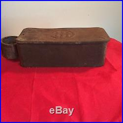Antique International Harvester Tractor Tool Box With Oil Can Holder