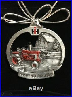 Case IH International Harvester Pewter Christmas FARMALL Ornament All Years NEW