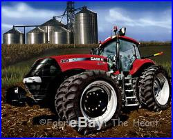 Case International Harvester 8 Wheel Tractor Farm BY YARDS Panel Cotton Fabric