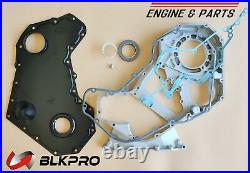Front Timing Gear Housing + Cover Gasket Front Oil Seal P For Dodge 5.9L Cummins