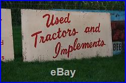 HOLY GRAIL! 1950's INTERNATIONAL HARVESTER BLUE RIBBON SIGNS USED TRACTORS IH