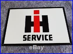 IH Service International Harvester Thick Metal Sign Made in USA Farm Tractor