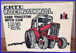 International Harvester 1586 Tractor With Cab By ERTL 1/16 Scale MIB