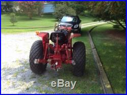International Harvester 284 Diesel Tractor With 3 Point Tow Behind Mower & Plow