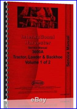 International Harvester 3600A Industrial Tractor Service Manual