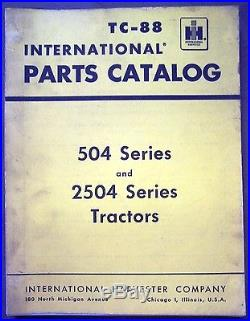 International Harvester 504 and 2504 Series Tractor Parts Manual