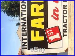 International Harvester Tractor IH Tractor Display Sign Used Metal Tractor Sign