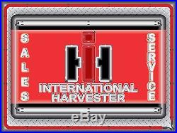 International Harvester Tractor Marquee Neon Style Print Banner Sign Art 4' X 3