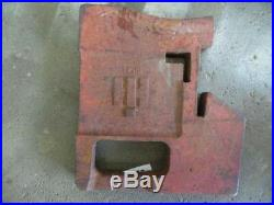 International Harvester tractor 100 lb. Suitcase weight Part #712002C1 Tag #2693