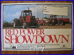 International Red Power Poster Sign 5488 6588 IH Tractor