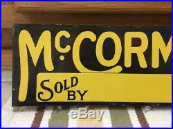 McCormick Machines Sign Sold By NOS Tin Sign Farm Tractor Horse Cow Hay