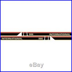 NEW 986 RED STRIPE WithCAB INTERNATIONAL HARVESTER TRACTOR HOOD DECAL KIT