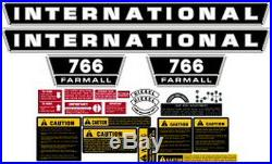 New 766 International Harvester Farmall Tractor Complete Decal Kit High Quality
