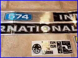 New COMPLETE Hood Warning DECALS Decal Set for IH 574 INTERNATIONAL TRACTOR