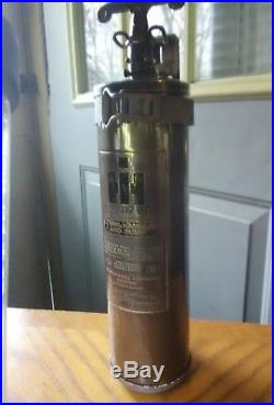Old Brass International Harvester Fire Extinguisher Tractor Scout II Cub A C D