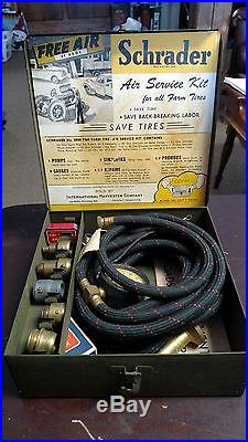 Old International Harvester Schrader Tire Air Service Kit for All Farm Tractors