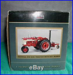 SpecCast ZJD 1626 International Harvester Farmall 340 Gas Tractor with #31 mower