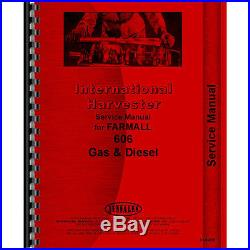 Tractor Manual Kit For Case IH International Harvester 606 Gas and Diesel