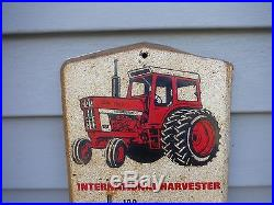 VINTAGE INTERNATIONAL HARVESTER THERMOMETER SIGN TRACTOR FRANKENMUTH MICHIGAN