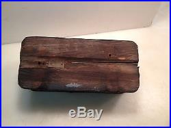 Vintage International Harvester Ih Tractor Tool Box With Wooden Bottom Case Ih