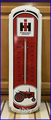 Vintage International Harvester Thermometer Tractor Metal Sign Farm Wall Decor 1